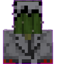 Cactus in the head slot in Minecraft