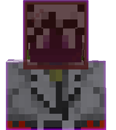 Colored glass in the head slot in Minecraft