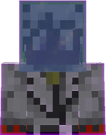 Ice in the head slot in Minecraft