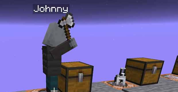 Hostile Johnny vindicator trying to attack a rabbit