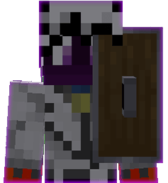 Shield in the head slot in Minecraft